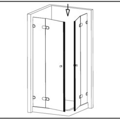 uszczelka samoprzylepna magnetyczna do kabin prysznicowych 8-12 mm nr kat. bk 69250
