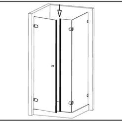 uszczelka samoprzylepna magnetyczna do kabin prysznicowych 8-12 mm nr kat. bk 69260